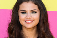 Selena-gomez-easy-demi-updo-and-makeup-to-match-side